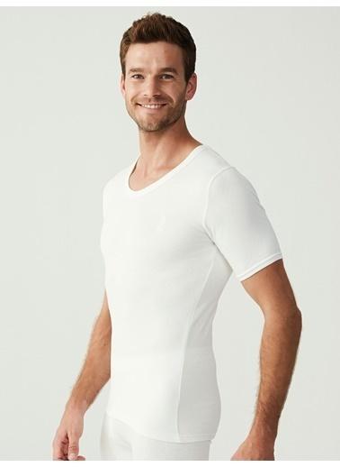 U.S. Polo Assn. Termal Erkek Kısa Kol T-Shirt Beyaz